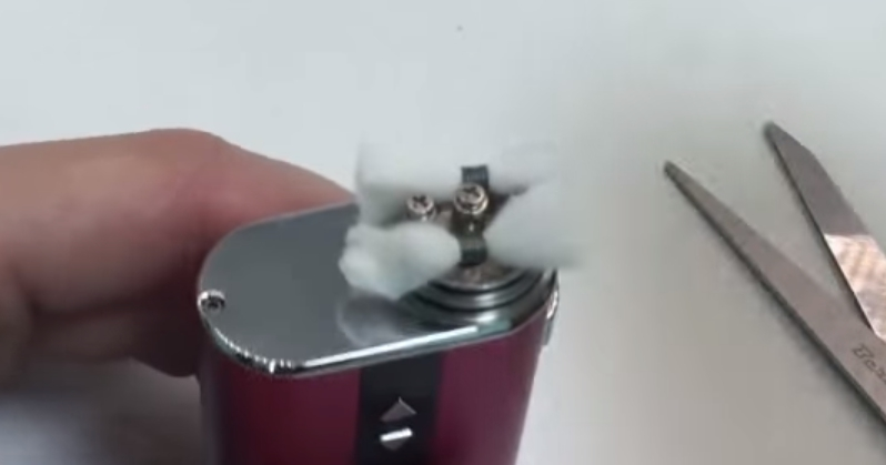 Укладка ваты в дрипку с боковым обдувом