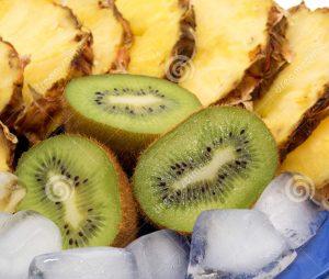 Рецепт самозамеса Киви и ананас во льду